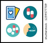 4 addiction icon. vector... | Shutterstock .eps vector #1259577709