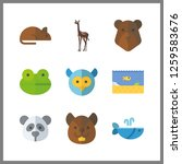 9 wildlife icon. vector... | Shutterstock .eps vector #1259583676