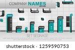 set signage. a set of... | Shutterstock .eps vector #1259590753