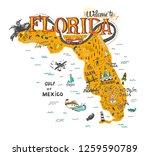 hand drawn illustration of...   Shutterstock . vector #1259590789