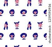 seamless cartoon pattern with... | Shutterstock .eps vector #1259593936