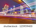 the light trails on the modern... | Shutterstock . vector #125959403