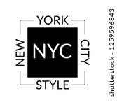new york city style slogan or... | Shutterstock . vector #1259596843