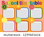 school timetable  a weekly...   Shutterstock . vector #1259601616