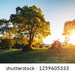 beautiful view of alpine... | Shutterstock . vector #1259605333