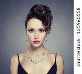 fashion photo of beautiful lady ...   Shutterstock . vector #125960558