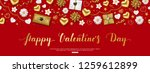 valentines day composition with ... | Shutterstock .eps vector #1259612899