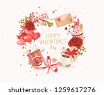 cute poster  valentines day... | Shutterstock .eps vector #1259617276