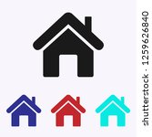 home icon vector. house | Shutterstock .eps vector #1259626840