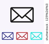 mail icon vector. email.... | Shutterstock .eps vector #1259626963
