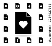 a heart on document icon. file...