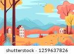 color autumn park. mountains...   Shutterstock .eps vector #1259637826