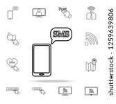sms on smart phone icon. sosial ...