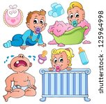 babies theme collection 1  ... | Shutterstock .eps vector #125964998
