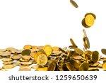 movement of falling gold coin ... | Shutterstock . vector #1259650639
