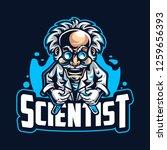 scientist mascot logo template | Shutterstock .eps vector #1259656393