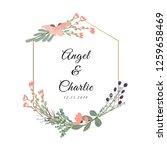 wedding badge with beautiful... | Shutterstock .eps vector #1259658469