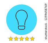 bulb  light icon vector...
