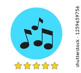 music note icon vector...