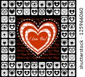 valentine's day greeting card... | Shutterstock .eps vector #125966060