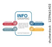 vector infographic template for ... | Shutterstock .eps vector #1259661403