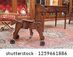 mechanical horse toy in a museum | Shutterstock . vector #1259661886