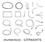 tangled shapes on white. hand... | Shutterstock . vector #1259663476