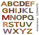 the set of letters  the tartan... | Shutterstock .eps vector #125966378