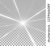 abstract shining white beams...   Shutterstock .eps vector #1259666089