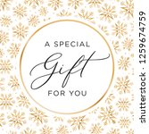 a special gift for you holiday... | Shutterstock .eps vector #1259674759