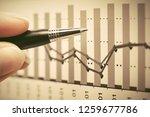 financial graphs analysis stock ... | Shutterstock . vector #1259677786