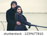 happy young fashion couple in... | Shutterstock . vector #1259677810