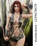 seductive fantasy redhead...   Shutterstock . vector #1259678479