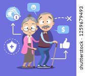 pension savings and planning...   Shutterstock .eps vector #1259679493