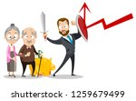 man insurer protect old people... | Shutterstock .eps vector #1259679499