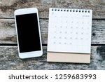 calendar january 2019 with mock ...   Shutterstock . vector #1259683993