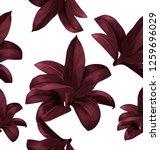 tropical  leaves vector... | Shutterstock .eps vector #1259696029