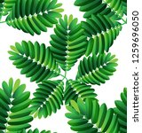 tropical  leaves vector... | Shutterstock .eps vector #1259696050