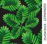tropical  leaves vector... | Shutterstock .eps vector #1259696053