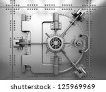 bank vault door | Shutterstock . vector #125969969