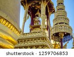 artworks in wat phra kaew in... | Shutterstock . vector #1259706853