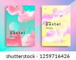 pastel gradient covers design... | Shutterstock .eps vector #1259716426