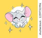 cute little mouse in cartoon... | Shutterstock .eps vector #1259731996