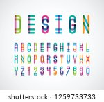 vector of stylized abstract... | Shutterstock .eps vector #1259733733