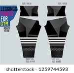 leggings pants for gym | Shutterstock .eps vector #1259744593