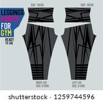 leggings pants for gym | Shutterstock .eps vector #1259744596