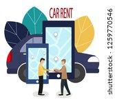 man and car dealer. making...   Shutterstock .eps vector #1259770546