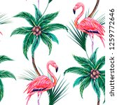 tropical floral seamless vector ... | Shutterstock .eps vector #1259772646