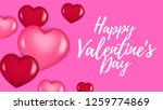 happy valentine day greeting... | Shutterstock .eps vector #1259774869