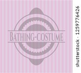 bathing costume badge with pink ... | Shutterstock .eps vector #1259776426